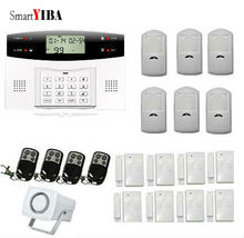 SmartYIBA Remote Control 7 Wired 99 Wireless Zone GSM Alarm System Home Security Alarm System Russian