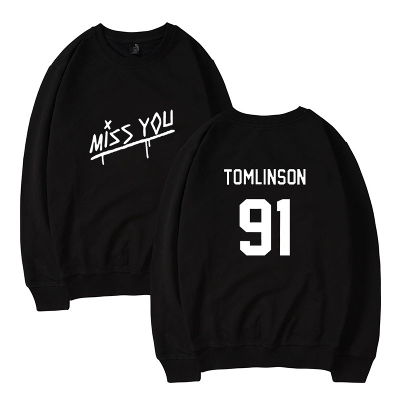Louis Tomlinson Sweatshirts England Singer Print Hoodies Men and Women Fans Capless Pullovers Hip Hop Popular Fleece Clothes