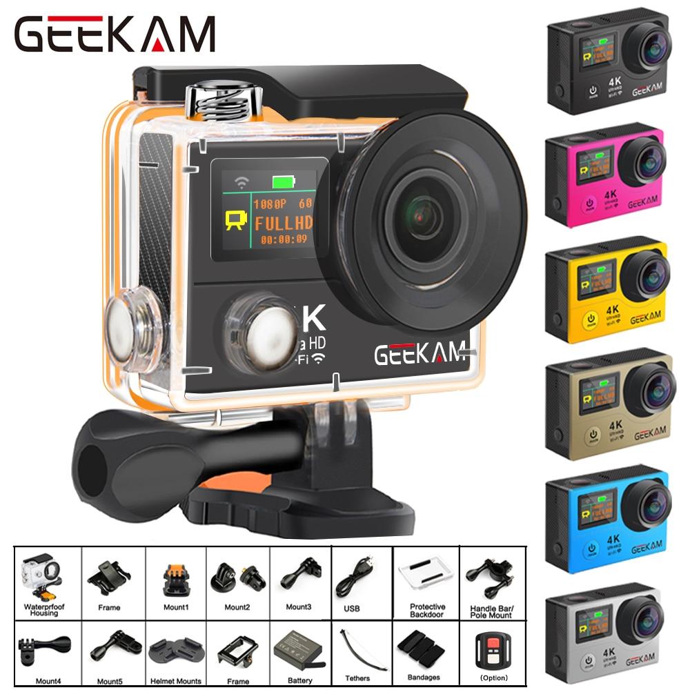 Экшн-камера GEEKAM H3R/H3 Ultra HD 4 K/30fps 20MP WiFi 2,0