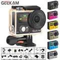 GEEKAM H3R/H3 Actie Camera Ultra HD 4 K/30fps 20MP WiFi 2.0 170D Dual Screen Waterdicht helm Video opname Camera Sport Cam