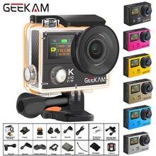 "GEEKAM H3R/H3 Eylem Kamera Ultra HD 4 K/30fps 20MP WiFi 2.0 ""170D Çift Ekran Su Geçirmez kask Video Kayıt Kamera spor kamerası"
