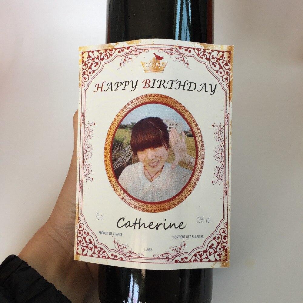 13 78 6 De Réduction Joyeux Anniversaire Cadeaux Personnalisé étiquette De Bouteille De Vin 16th 21st 30th 40th 50th 60th âge Douche Personnalisé