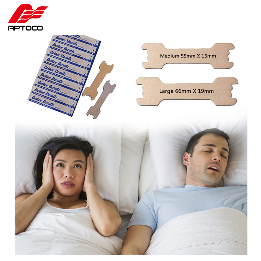 Aptoco 200 PCS/LOT Anti snoring Nasal Strips are Better than Breath Right Way To Stop Snoring Anti Snoring Strips-in Sleep & Snoring from Beauty & Health