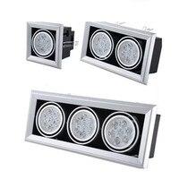 10X DHL высокой мощности потолок направленный с подсветкой AC85-265V 1 головка/2 головки/3 головки 6 Вт/10 Вт/14 Вт светодио дный Потолочные Встраиваемы...