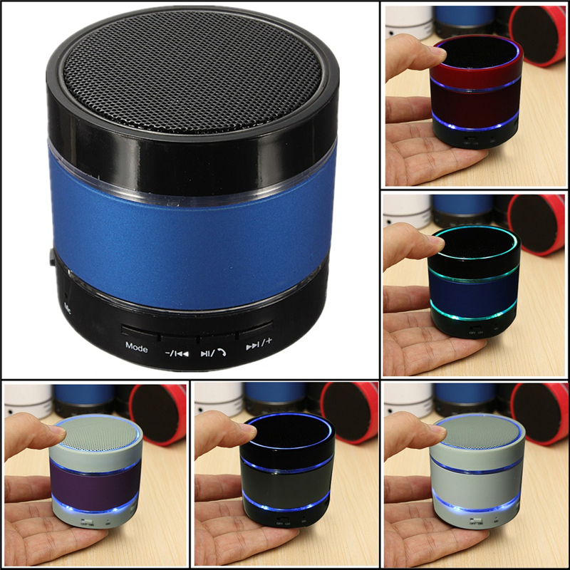 Super Bass Portable LED Bluetooth V3.0 Stereo Hifi Mini Super Bass Speaker TF with Built-in Microphone for Hands-free Phone Call