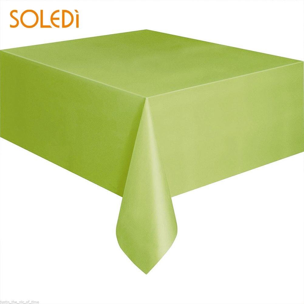 SOLEDI 20 цветов мягкий настольный бегун скатерть пластиковые товары для дома одноразовая скатерть для стола украшение стола - Цвет: fruit green