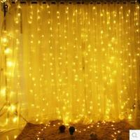 Christmas!6x3M Garland LED Christmas Lights Outdoor Decoration LED Curtain String Fairy Light For Holiday Wedding Luzes de Natal