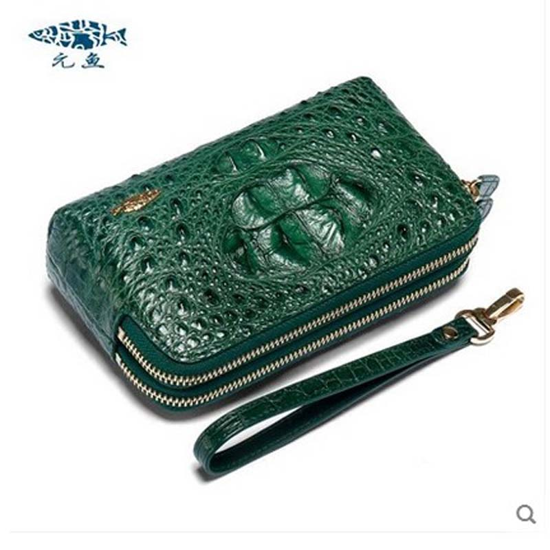 yuanyu new crocodile wallet  alligatorreal leather women bag real crocodile leather women purse women clutches yuanyu 2018 new hot free shipping python leather women purse female long women clutches women wallet more screens women wallet