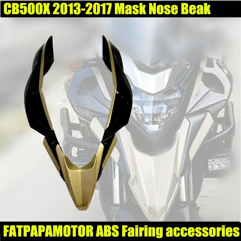 FOR CB500X 2013-2017 Front Fairing Mask Nose Beak Mandible Headlight