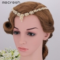 Mecresh Top Crystal Wheat-shaped Bridal Headbands Fashion Gold Plated Wedding Hair Jewelry Accessories Best Party Gift MTS052