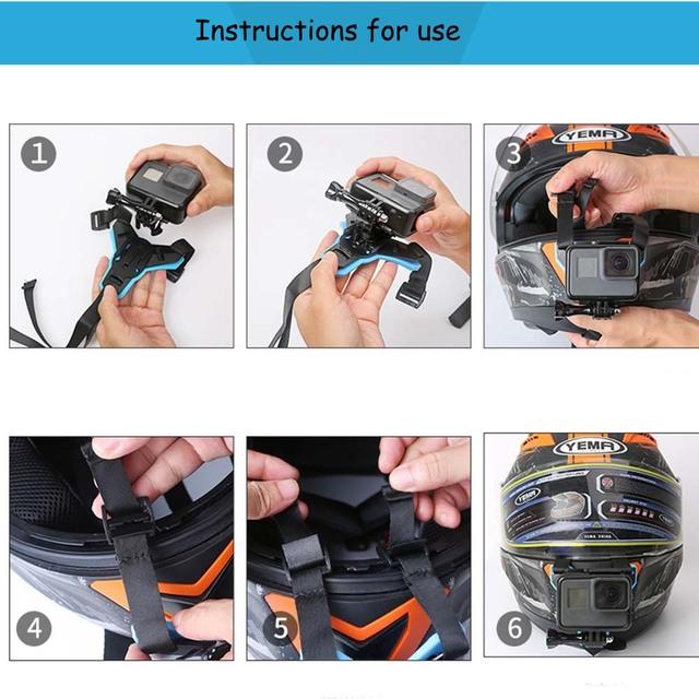 JINSERTA Full Face Helmet Chin Mount Holder for GoPro Hero 7 SJCAM Motorcycle Helmet Chin Stand for Gopro 6/5 Camera Accessory