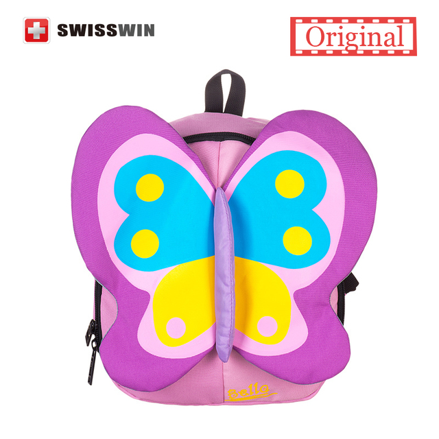 2015 Hot Sale Cute Kid Backpack Lovely Butterfly shaped Small Primary School Backpack for Girls Kindergarten Bookbag Kid's Bag