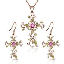 цены 2019 hot sale set necklace believe God cross ladies earrings necklace pendant two sets of detachable sale God we trust