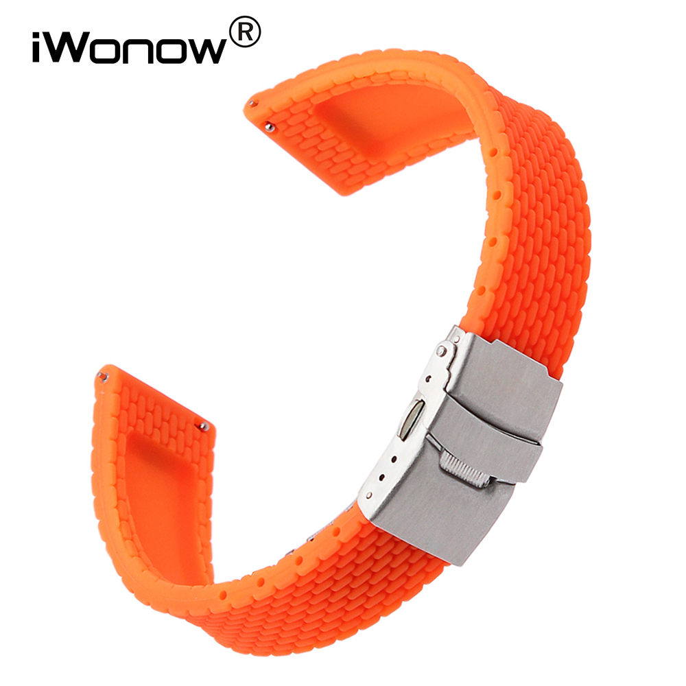 Quick Release Silicone Rubber Watchband 18mm for Huawei Watch /Fit Honor S1 Asus ZenWatch 2 Women WI502Q Wrist Band Strap Orange eache silicone watch band strap replacement watch band can fit for swatch 17mm 19mm men women