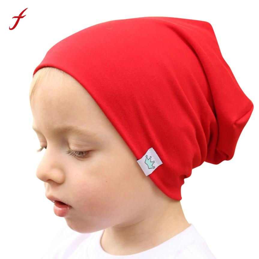 Fashion Solid Bonnet Enfant Kids Hat Baby Boy Girl Baby Hat Cotton Blends Baby Winter Hat Soft Warm Baby Cap Beanie A02