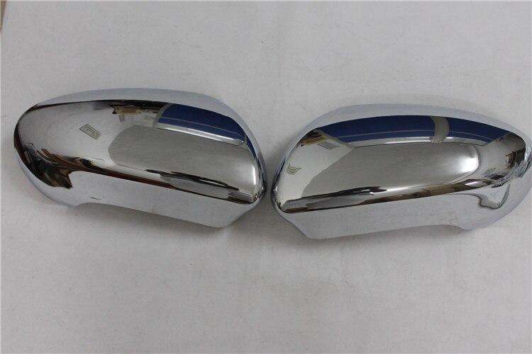 ABS Chrome Rétroviseur Côté Rétroviseurs extérieurs Garniture de Couverture de 2 pièces pour Nissan Qashqai 2007 2008 2009 2010 2011 2012 2013 ABS chromé