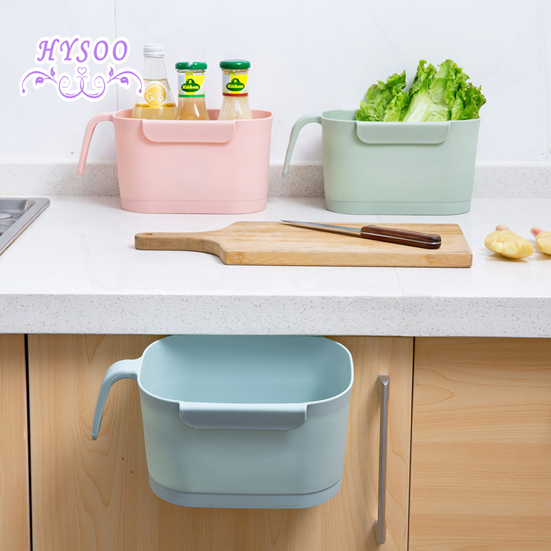 new cabinet hanging trash kitchen desktop storage box bathro