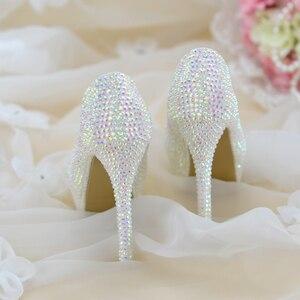 Image 2 - สตรีรองเท้าแต่งงานส้นสูงปั๊มBling Shiningรองเท้าสุภาพสตรีรองเท้าชุดใหม่มาถึงแฟชั่นรองเท้า