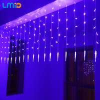 Christmas Lights Outdoor Decoration 2 0 6M Colorful Icicle LED Curtain String Light 220V For New