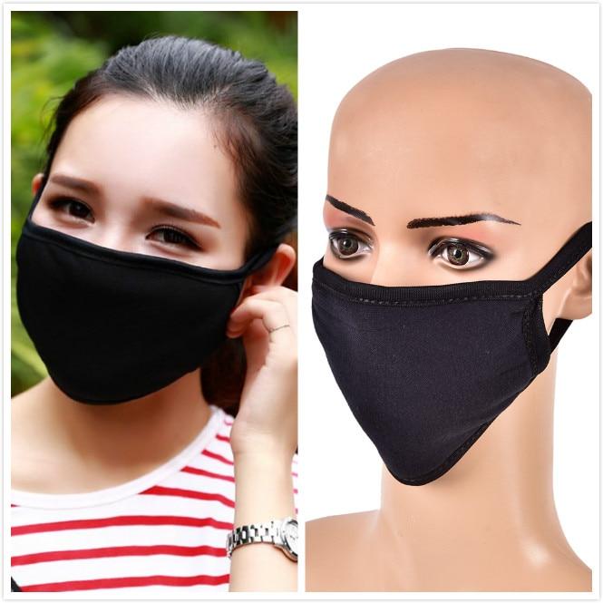 Mouth Mask Cotton Cute PM2.5 Anti Haze Black Dust Mask Nose Filter Windproof Face Muffle Bacteria Flu Fabric Cloth Respirator