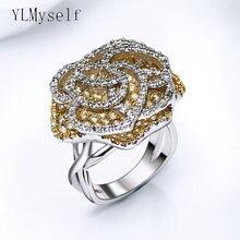 Кольцо с кристаллами 2 цвета