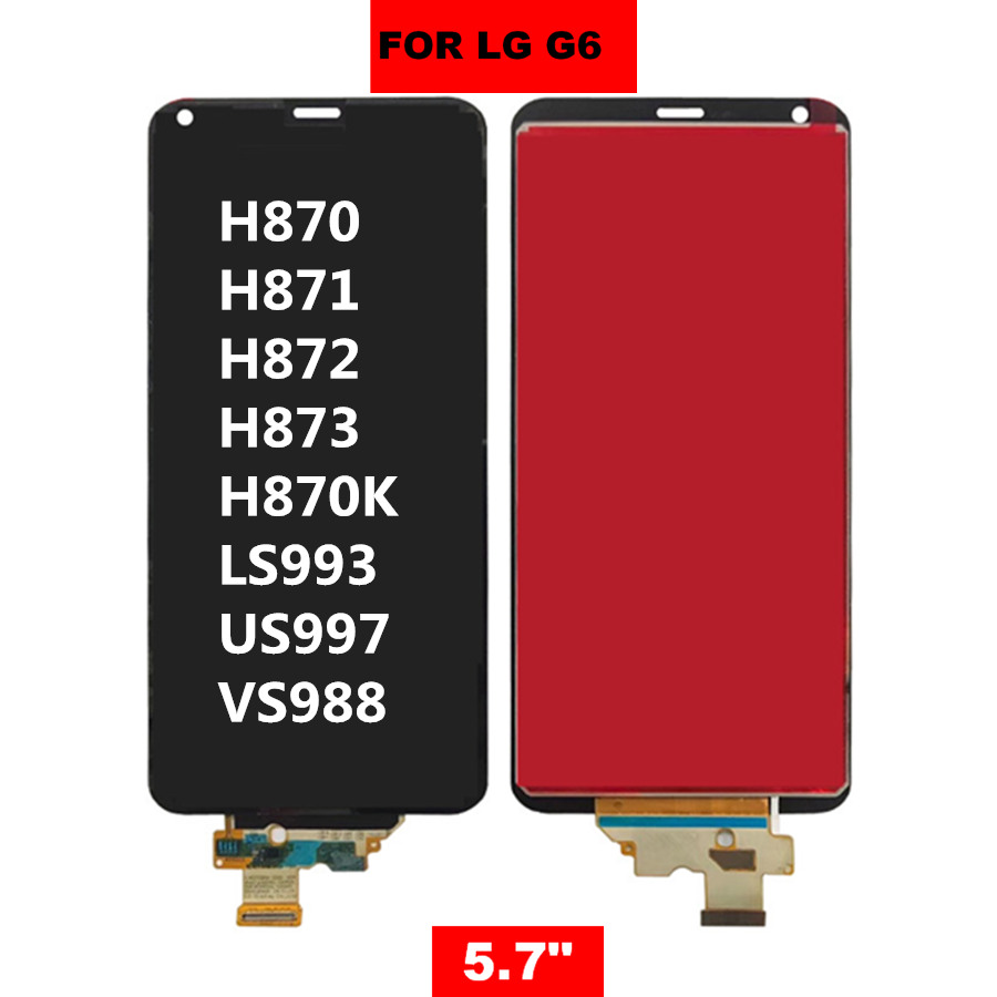 For 5 7 quot LG G6 LCD Display Touch Screen Digitizer Assembly For LG G6 LCD H870 H870DS H872 LS993 VS998 US997 Screen Replacement in Mobile Phone LCD Screens from Cellphones amp Telecommunications