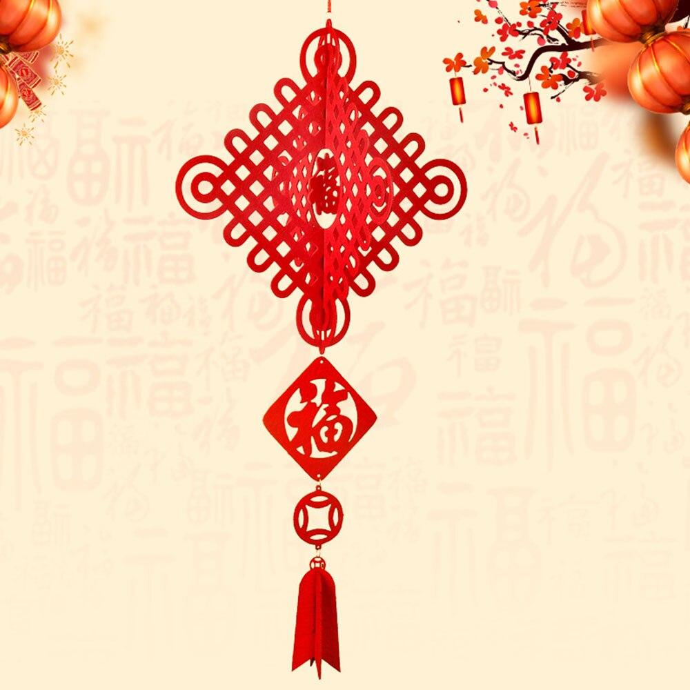 Нетканая ткань китайский фонарь китайский красный фонарь 3D фонарь традиционный красивый Рождественский праздничный дверь украшение дома подарок - Цвет: 1