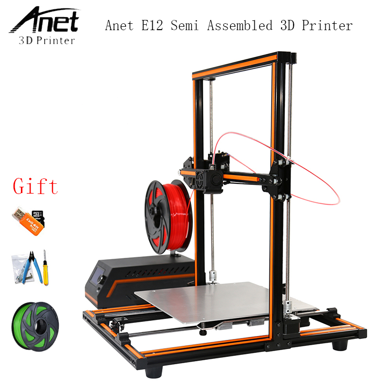 Update Threaded Rod High Precision Anet E12 3d Printer DIY Reprap 3d Printer Kit Large Print Size 10M / 1KG Filament anet e12 3d printer large printing size high precision update threaded rod reprap i3 3d 3d printer kit with pla abs filament