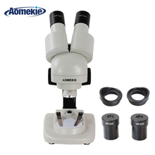 AOMEKIE 20X/40X Stereo Mikroskop Dürbün HD Vizyon Üst LED Aydınlatma PCB Lehim Telefonu Tamir Aracı Çocuklar için Eğitim Hediye