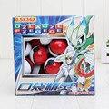 Série 1 conjunto = 36 pcs Pikachu Pokébola Pokeballs + 36 Figura Brinquedos + 72 pcs Cartões de Picar Puxão Presentes Chilrdren