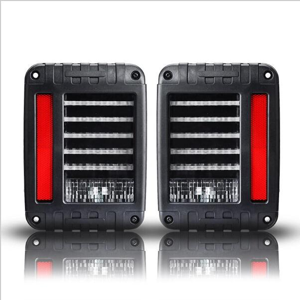 2pcs New Led Taillights 2007~2015 Tail lamps brake light auto parts for Jeep Wrangler JK 2 pcs black car styling parts front rear grab bar handles for jeep wrangler jk 2007 2017 new fashion upgraded