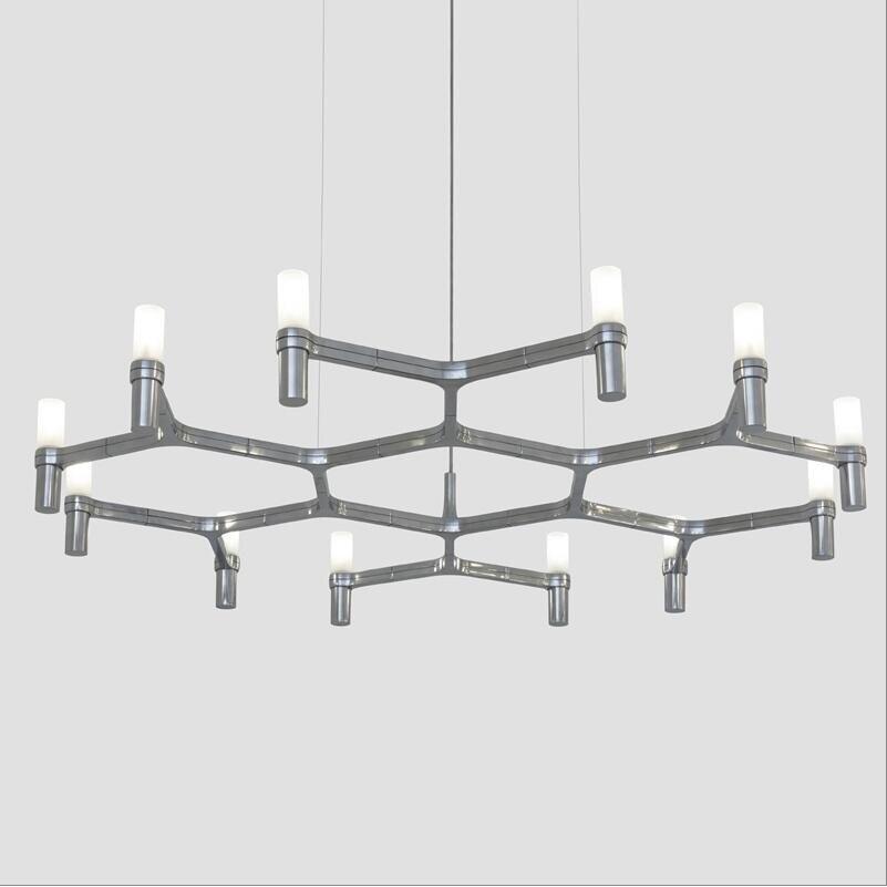 Post Modern G9 LED Chandeliers Crown MAJOR Design Duplex Villa Restaurant  Lighting One Layer 6/