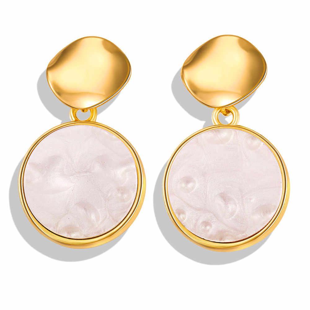 17KM New Pearl Shell Jewelry Sets For Women 2019 NE+EA Vintage Gold Hoop Drop Earrings Fashion Necklaces Pendants Boho Jewelry