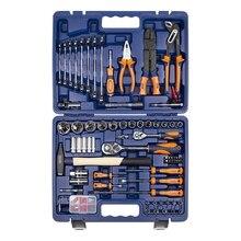 Набор ручного инструмента Helfer HF000016 (99 предметов, головок, отвертоки, молоток, пассатижи, автотестер, кейс)