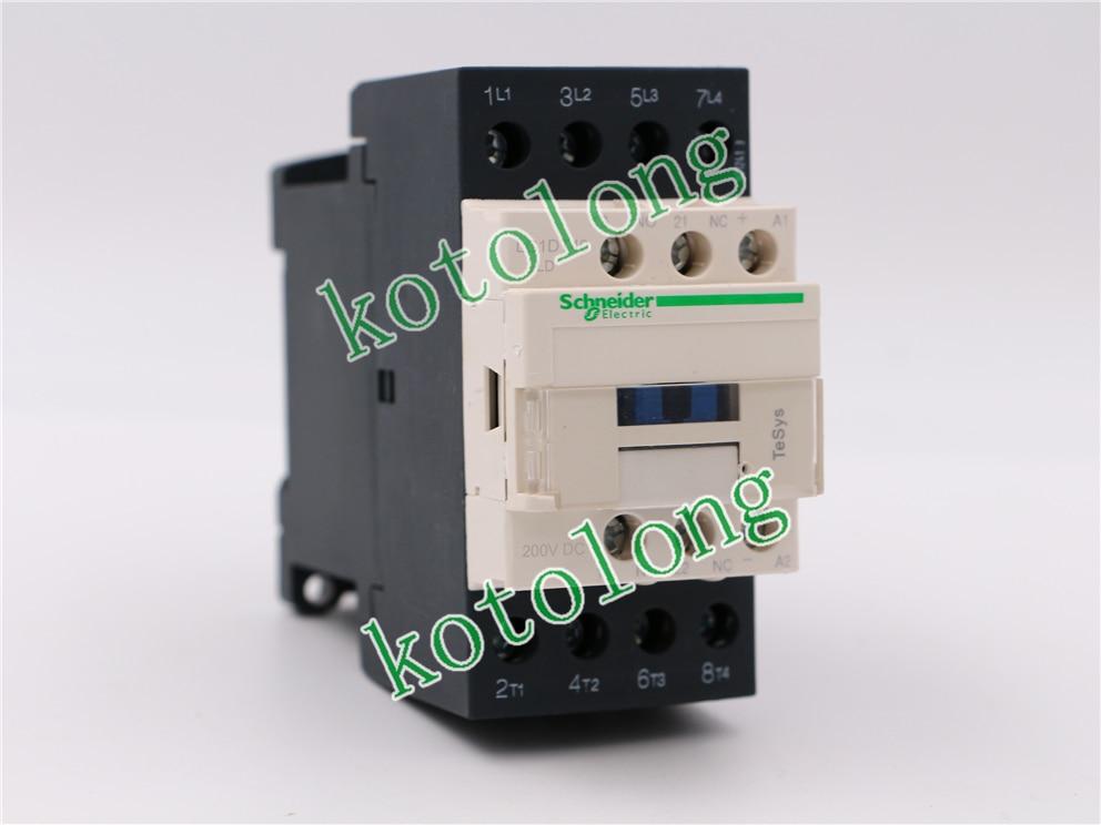 DC Contactor LC1DT40 LC1-DT40 LC1DT40LD 200VDC LC1DT40MD 220VDC LC1DT40ND 60VDC LC1DT40PD 155VDC tesys k reversing contactor 3p 3no dc lp2k1201md lp2 k1201md 12a 220vdc lp2k1201nd lp2 k1201nd 12a 60vdc coil