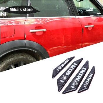 Para mini cooper f55 r55 f60 r60 painel da porta do carro protetor estilo do carro placa de fibra de carbono scuff anti-colisão etiqueta protetora