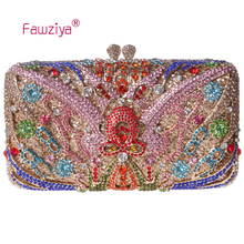 Fawziya Kupplung Geldbörse Schmetterling Kupplungen Für Frauen Strass Kristall Abendtaschen