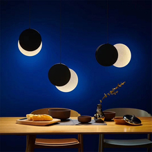 New Moon Nordic led Chandeliers For Dining Room Livingroom Bedroom Simple Creativity Led Lamp Hanging Morden Lights