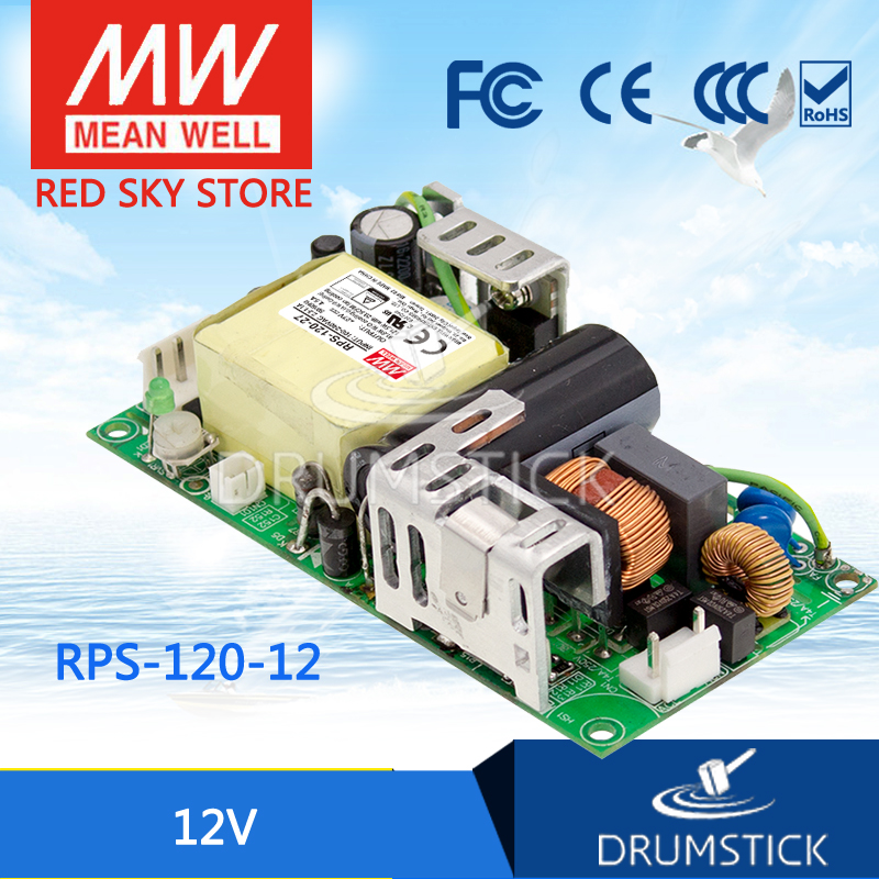 Selling Hot MEAN WELL original RPS-120-12 12V 10A meanwell RPS-120 12V 120W Single Output Green Medical Type original meanwell rps 160 12 single output 160w 12v 12 9a mean well medical open frame type power supply rps 160 pcb type