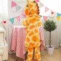 Fotografia Do Miúdo Das Meninas Dos Meninos Party Roupas Pijamas Pijamas de Flanela Criança Com Capuz Pijamas Pijamas Animal Dos Desenhos Animados girafa Cosplay