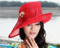 2017 Lady Dress Sinamay Derby Church Wedding Cocktail Evening Party Vintage Sun Cap French Style Fedora Visors Berets New Tops