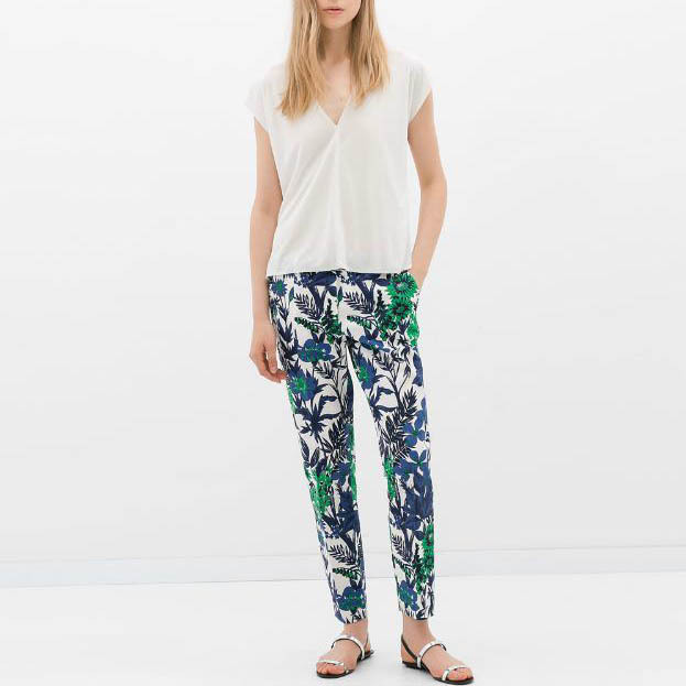 Popular Slim Floral Pants Printed-Buy Cheap Slim Floral Pants ...