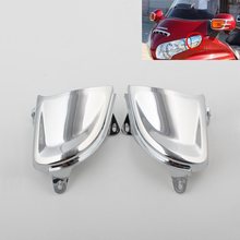 2PCS Chrome Front Headlight Cover Trims Case for Honda Goldwing GL1800 2001-2011 2002 2003 2004 2005 2006 2007 2008 2009 2010 chrome motorcycle passenger speaker outer trim case for honda goldwing gl1800 2006 2015 2007 2008 2009 2010 2011 2012 2013 2014