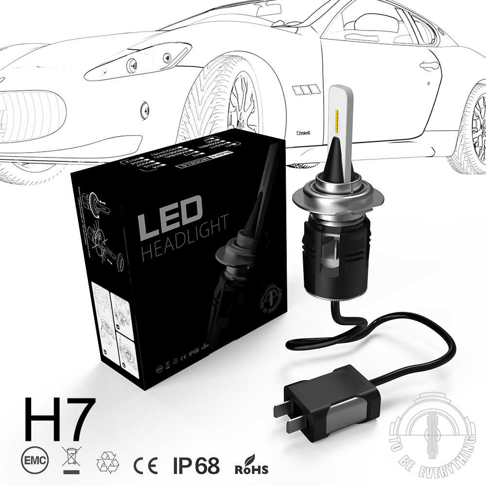 B6 H7 LED Headlight car Slim Conversion Kit 42W 5200LM CSP Y11 Chips All-in-one Pure White 6000K Car Lamp Bulb