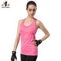 Women Brand Tops Running Breathable Gym Shirts Fitness Sleeveless Vest Ladies Padded Bra Quick Dry Sports