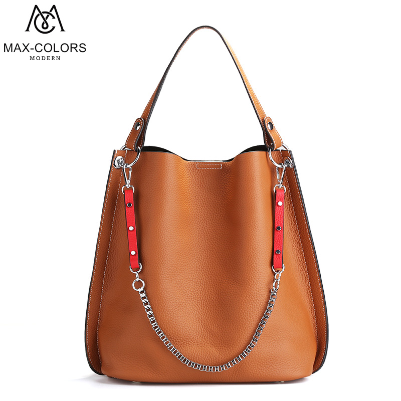 MC Brand Women Genuine Leather Tote Bag Bucket Handbag Pure Shoulder Bags high quality Ladies Crossbody bag for women women s genuine leather bucket bags ladies crossbody bags designer brand handbag causal tote big shopping shoulder bag for women