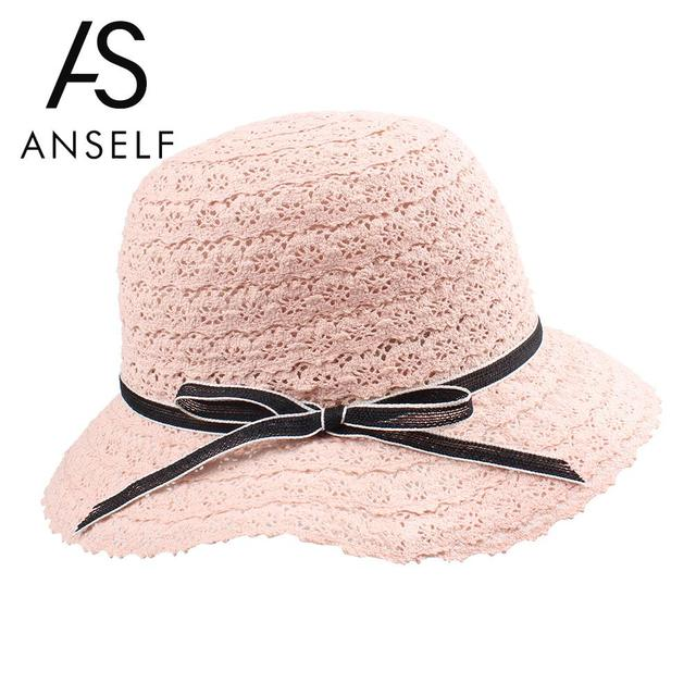 da0a5b21d49 Anself Summer Hats for Women Fashion Ladies Straw Floppy Hat Wide Brim  Bowknot Foldable Sun Beach Hat Holiday Casual Cap 2019