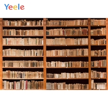 Yeele Vinyl Wood Bookshelf Library Books Children Birthday Party Photograph Backdrop Wedding Photocall Background Photo Studio