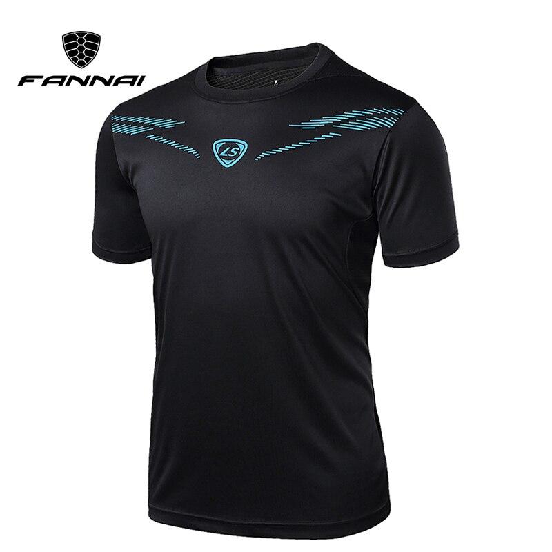 FANNAI hommes t-shirt Sport hauts t-shirts séchage rapide Fitness Gym t-shirt hommes chemises de course à manches courtes maillots Sportswear entraînement