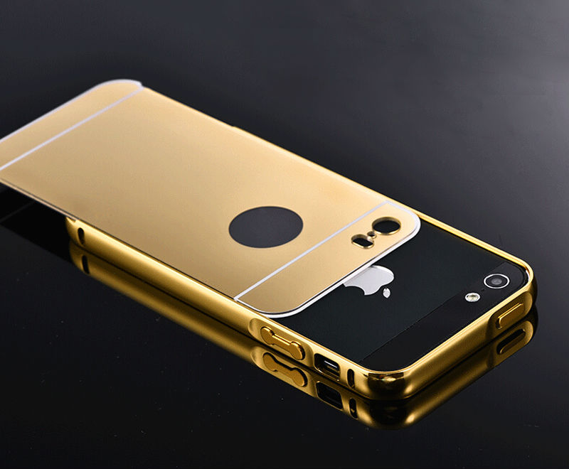 new arrival 7b809 38f72 US $4.11 |5S Mirror Aluminum Case for iPhone 5 5G 5S apple HOT Fashion Gold  Silver Aluminum Acrylic Mobile Phone Cases Cover for iPhone5 s-in ...